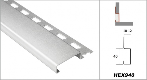 Sockelprofil 10mm | Edelstahlschienen - silber gebürstet | ES Sparpaket - Vorschau 2