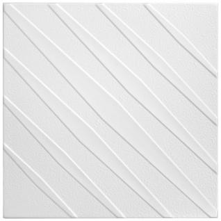 1 qm Deckenplatten Polystyrolplatten Stuck Decke Dekor Platten 50x50cm Nr.44
