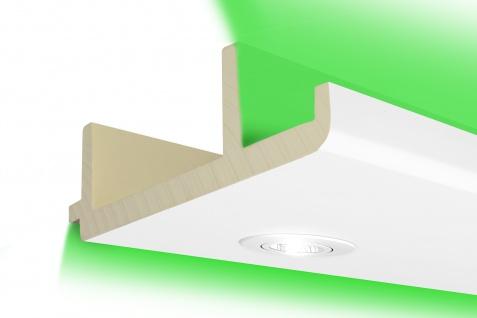 2m LED Kastenprofil Spots indirekte Beleuchtung stoßfest Stuck 300x100mm LED-16