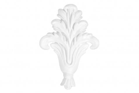 1 Ornament Dekorelement PU Stuckdekor Innen Wanddekor stoßfest 80x120mm, W813