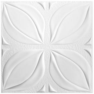 1 qm Deckenplatten Polystyrolplatten Stuck Decke Dekor Platten 50x50cm Nr.113