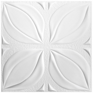 1 qm Deckenplatten Styroporplatten Stuck Decke Dekor Platten 50x50cm Nr.113