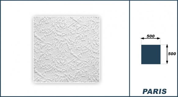 1 qm Deckenplatten Polystyrolplatten Stuck Decke Dekor Platten 50x50cm Paris - Vorschau 3
