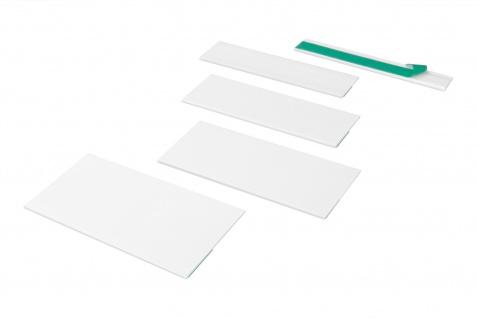Profile selbstklebend flach Auswahl Meterware Hexim PVC weiss HJ