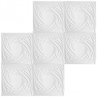 1 qm Deckenplatten Polystyrolplatten Stuck Decke Dekor Platten 50x50cm Nr.71 - Vorschau 3