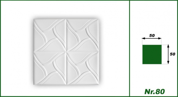 1 qm Deckenplatten Polystyrolplatten Stuck Decke Dekor Platten 50x50cm Nr.80 - Vorschau 2