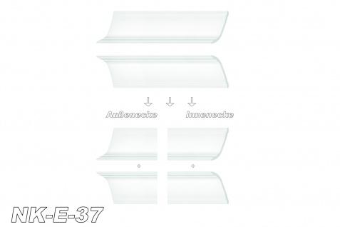 Stuckleisten inkl. Eckprofile XPS Dekor stabil 115x75 Marbet Sparpaket E-37-NK - Vorschau 3