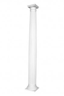Säulen und Halbsäulen | rund | kanneliert | Stuck | Auswahl | 203mm | N3120