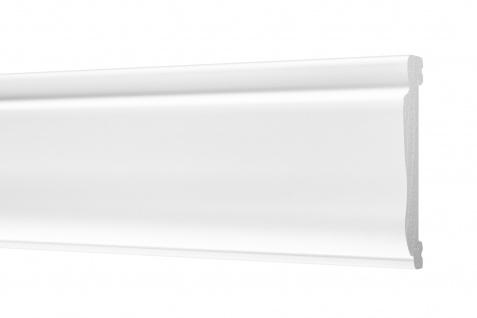 2 Meter Flachleisten HXPS Zierleisten Ecopolimer stoßfest hart Cosca 14x76mm CM33