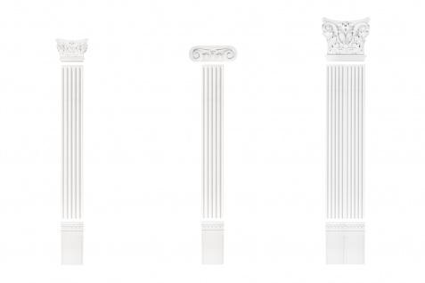 Pilaster Fassade Komplett Wand Bauteile Flachsäule Dekor PU stoßfest PL253