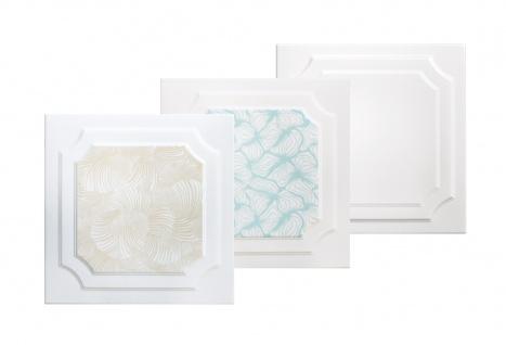 1 qm Deckenplatten Styroporplatten Stuck Decke Dekor Platten 50x50cm Nr.03