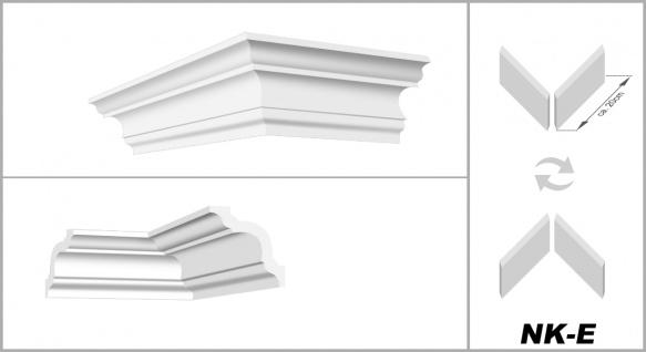 Stuckleisten inkl. Eckprofile XPS Dekor stabil 50x50 Marbet Sparpaket E-14-NK - Vorschau 4