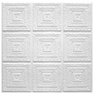 1 qm Deckenplatten Polystyrolplatten Stuck Decke Dekor Platten 50x50cm Plafon