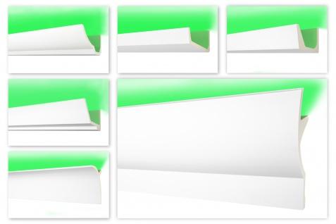 2m LED Stuckleisten aus PU Polyurethane - lichtundurchlässig, vorgrundiert - Hexim Perfect