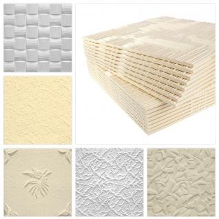 Marbet Design Styropor Deckenplatten EPS 6 verschiedene Dekore in 3 Farben 50x50cm Sparpaket