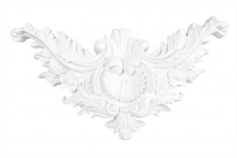 1 Ornament Dekorelement PU Stuckdekor Innen Wanddekor stoßfest 295x155mm, A133