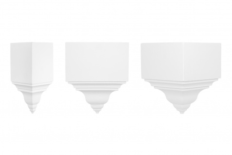 Dekorelement Ergänzung PU Hartschaum 1 Stück weiß stoßfest Perfect E3015