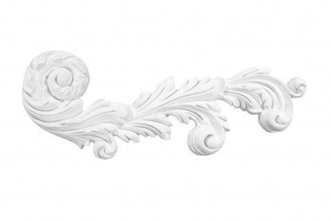 1 Ornament Dekorelement PU Stuckdekor Innen Wanddekor stoßfest 180x450mm, W857