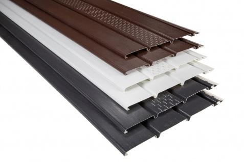 Kunststoffpaneele und Zubehör Verkleidung Unterdach Dachkasten Blende Soffit