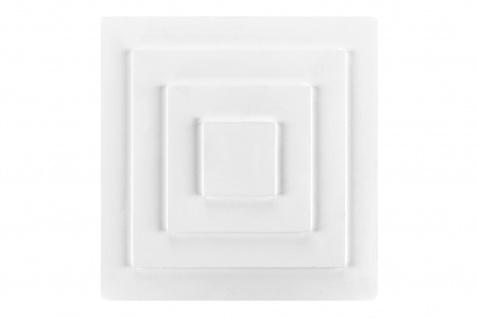1 Rosette Deckenrosette Stuck Dekorrosette Sparpaket hart Polystyrol 30x30cm DR22