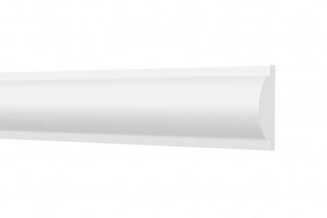 2 Meter Wandleisten hart glatt leicht Styroporleisten XPS Stuckprofile HEXIMO