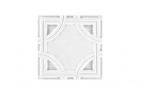 1 PU Ornament für Decke und Wand stoßfest Hexim 20x20cm FR32