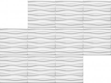 3D Wandpaneele Styroporplatten Wandverkleidung Wanddekor Paneele Tube 1 qm - Vorschau 3