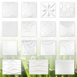 3D Paneele, 100% Naturprodukt - stabil & dämmend - alle Modelle / 1 Platte