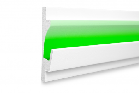 1, 15 Meter LED Profil XPS Stuck Trockenbau Tesori 125x35mm KD401