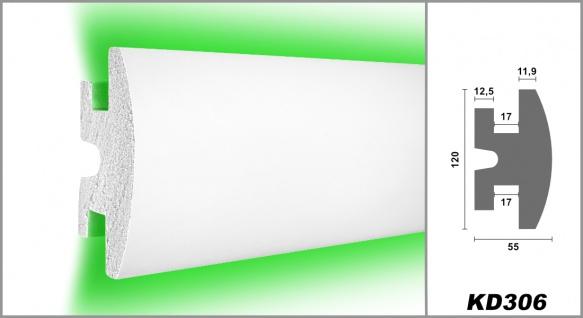 1, 15 Meter LED Leiste Trockenbau Stuckprofil Beleuchtung indirekt 120x55mm KD306 - Vorschau 2