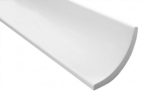 2 Meter Stuckleiste XPS Zierprofil Eckleiste stabil weiß Marbet 75x75mm E-13