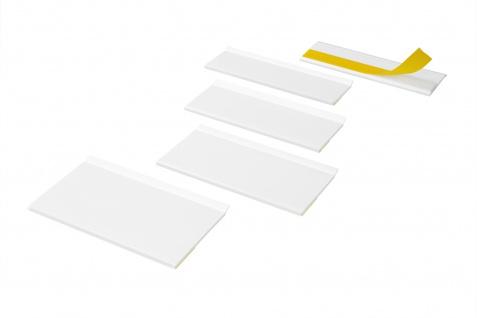 Profile mit Weichlippe selbstklebend flach Auswahl Meterware Hexim PVC weiss HJ
