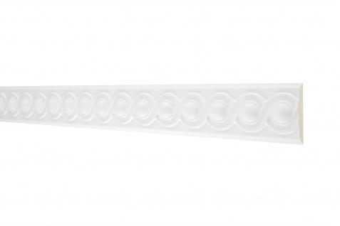 2M Flachprofil 60x20mm - Stuckleiste aus PU gemustert, stoßfest - Perfect AC214