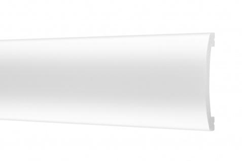 2 Meter Flachleisten HXPS Zierleisten Ecopolimer stoßfest hart Cosca 15x70mm CM5