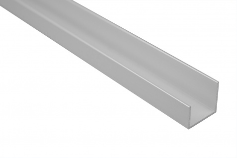 2 Meter Bastlerleiste U-Profil Rostfrei Alu Eloxiert Effector 19x18mm B31
