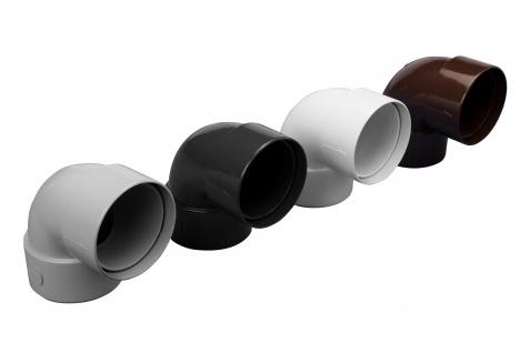 PVC RainWay90 Regenrinnensystem Regenwasser Rohrbogen 87° Verbinder zweifach