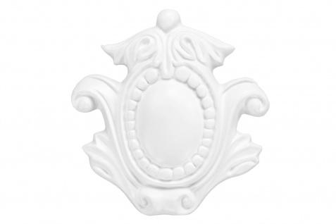 1 Ornament Dekorelement PU Stuckdekor Innen Wanddekor stoßfest 130x125mm, A689