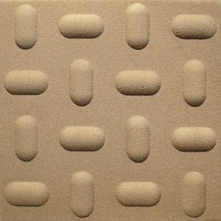 1 qm 3D Paneele Wand Decke Verkleidung Wandplatten Sparpaket 50x50cm Hexim Tabs Sand