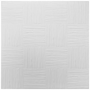 1 qm Deckenplatten Polystyrolplatten Stuck Decke Dekor Platten 50x50cm Nr.10