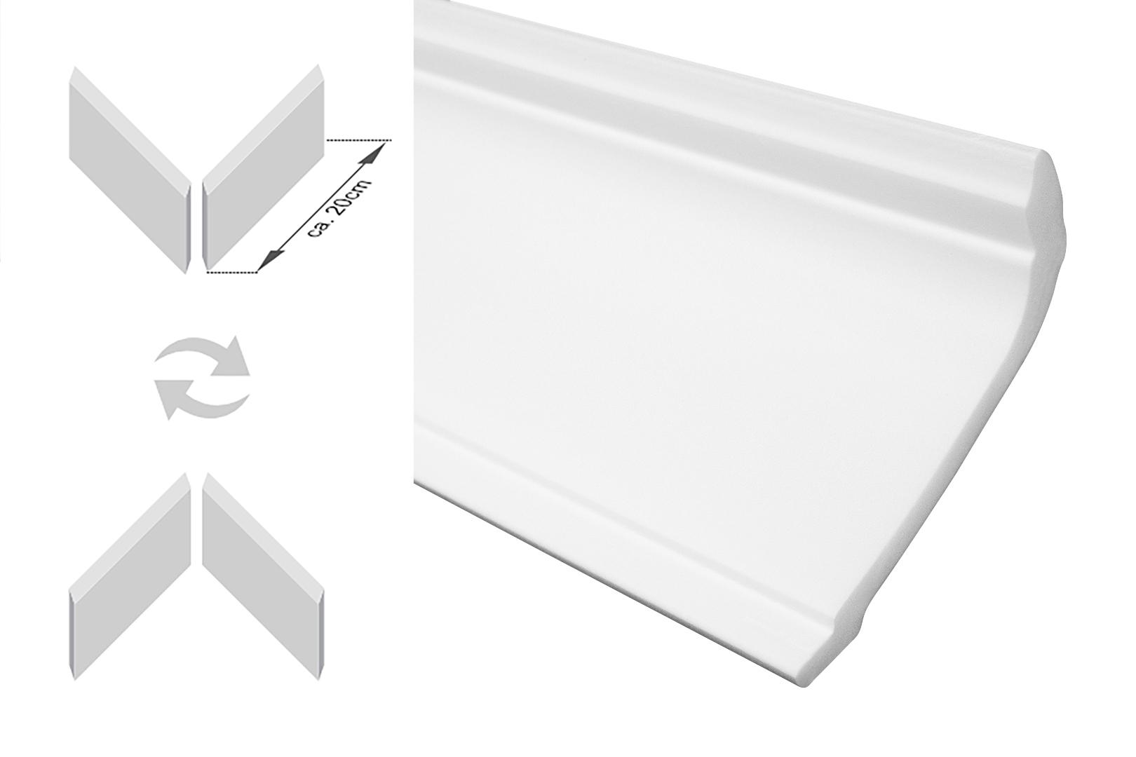 Musterst/ück 20 cm Orac Decor Muster C301 Deckenleiste Eckleiste LUXXUS Profilleiste Stuckleiste Zierleisten Zierprofile