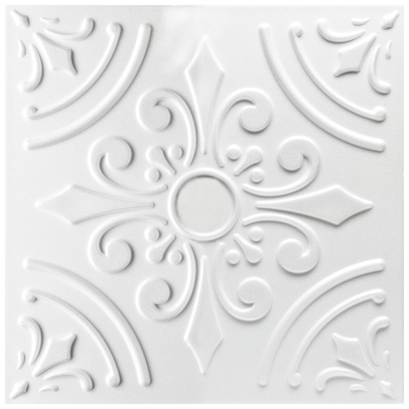 1 qm Deckenplatten Styroporplatten Stuck Platten Dekor Decke 50x50cm Nr.99