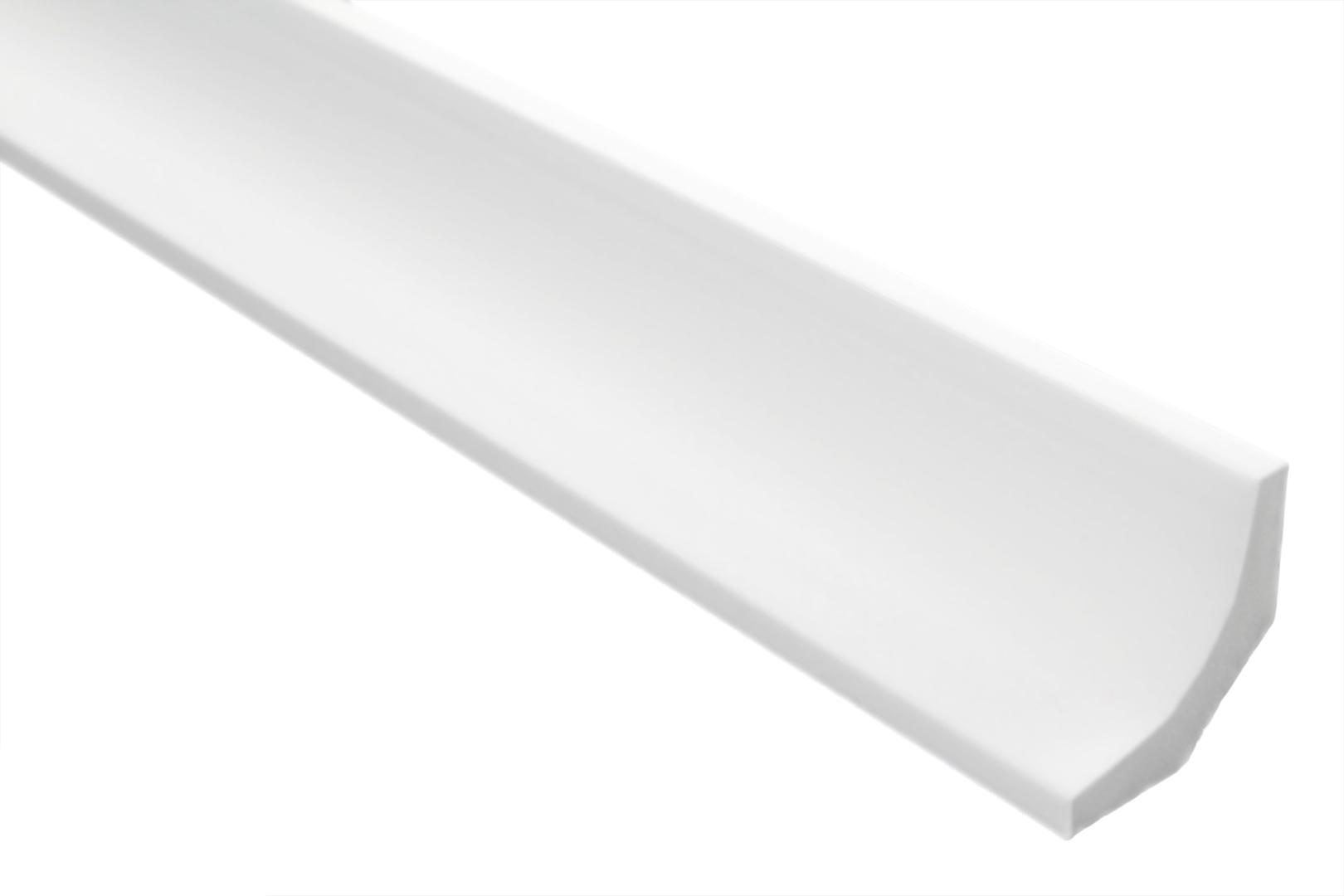 modern wei/ß 20 Meter Zierleisten Sparpaket E-43-NK extrudiertes Styropor dekorativ 50 x 50 mm inkl Stuckprofile leicht und stabil 4 Ecken vorgefertigte Ecken XPS