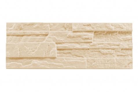 Sparpaket Verblender Polystyrolplatten beige Stuck Wand Dekor Platten 48x18cm Stone