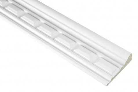 2 Meter PU Flachleiste Profil Innen Dekor stoßfest Hexim 68x23mm | FH9474