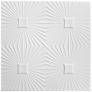 1 qm Deckenplatten Polystyrolplatten Stuck Decke Dekor Platten 50x50cm Nr.40