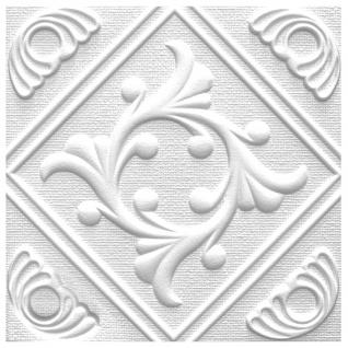1 qm Deckenplatten Polystyrolplatten Stuck Decke Dekor Platten 50x50cm Anet