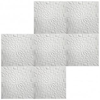 1 qm Deckenplatten Polystyrolplatten Stuck Decke Dekor Platten 50x50cm Nr.26 - Vorschau 3