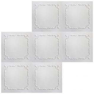 1 qm Deckenplatten Polystyrolplatten Stuck Decke Dekor Platten 50x50cm Nr.17 - Vorschau 3