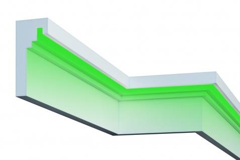 Fassade LED Stuck EPS PU Fassadenleisten wetterfest 110x240mm Sparpaket KC306