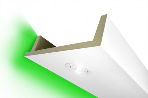 2 Meter LED Kasten Profil PU Stuck Beleuchtung stoßfest Hexim 80x300mm LED-12